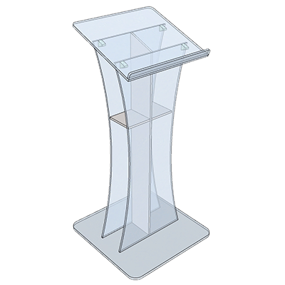 Lectern - Cross shelf